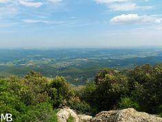 Panorama verso sud dal pic saint loup