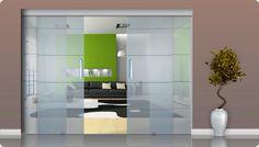Sistemas para portas de correr embutidas em alvenaria ou drywall.
