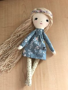 Rag Doll Fabric Dolls Cloth Doll Dolls by littlewildwooddolls