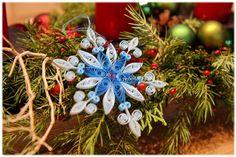 Papier Baumschmuck Schneeflocke Weihnachtsstern von Liebeabies auf DaWanda.com
