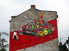 Capitan Borderline graffiti for Amnesty International