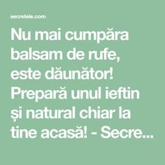 Nu mai cumpăra balsam de rufe, este dăunător! Prepară unul ieftin și natural chiar la tine acasă! - Secretele.com Body Hacks, Cleaners Homemade, Useful Life Hacks, Handmade Home, Kids And Parenting, Good To Know, Cleaning Hacks, Helpful Hints, Health Tips