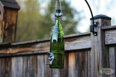 Green and Silver Wine Bottle Bird Feeder Gift for Mom Outdoor Patio Handmade Wine Bottle Decor Gifts for Women ** Find similar products by clicking the image Tea Candle Holders, Glass Tea Light Holders, Wine Bottle Lanterns, Wine Bottles, Gardening Gifts For Mom, Unique Bird Feeders, Lantern Set, Humming Bird Feeders, House Gifts