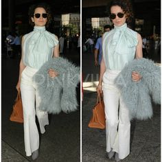 Kangana Ranaut's airport look is classy and perfect for summer! 💕 . . Follow @pinkvilla for more updates . . #kanganaranaut #kangy #airportdiaries #airportfashion #actress #star #bollywood #chic #stylish #beauty #gorgeous #stunning #charming #beautiful #sweet #style #glam #fashion #pinkvilla