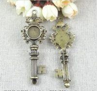Envío gratis ( A1600 ) 14 mm largo 87 mm bronce DIY del camafeo de la aleación configuración Base Cork Charm accesorios colgantes joyas hallazgos