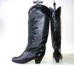 Brunella #vintage kalfsleren luxe #laarzen. Buttersoft vintage #boots for #sale in my #webshop