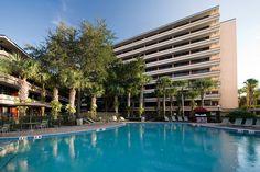 Rosen Inn at Pointe Orlando Pool Area Orlando Vacation, Orlando Florida, Outdoor Swimming Pool, Swimming Pools, Florida Holiday, Disney 2015, Usa Trip, Retirement Ideas, Amazing Destinations
