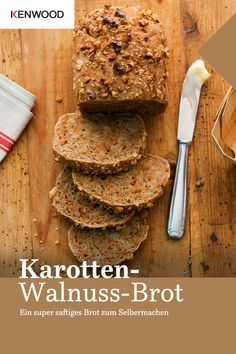 The grated carrots and chopped walnuts make the bread fresh super juicy! Healthy Meals For Two, Healthy Desserts, Easy Desserts, Dessert Recipes, Christmas Baking Gifts, Cooking Chef, Sweet Tarts, Recipes From Heaven, Pampered Chef
