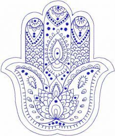 Palm Hamsa embroidery design by TuStitch on Etsy Hand Embroidery Videos, Free Machine Embroidery Designs, Hand Embroidery Patterns, Floral Embroidery, Embroidery Stitches, Embroidery Tattoo, Embroidery Materials, Hamsa Design, Hamsa Tattoo Design