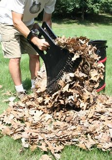 Leaf Claws :: Leaf Raking, Bagging and Yard Clean Up Tool :: One Swipe and Your Leaf Pile is Gone!