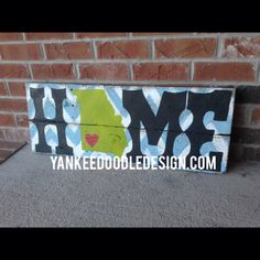 HOME with state on pallet wood on Etsy, $65.00