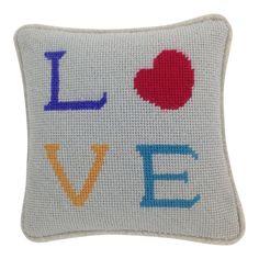 Valentine Love Needlepoint Pillow