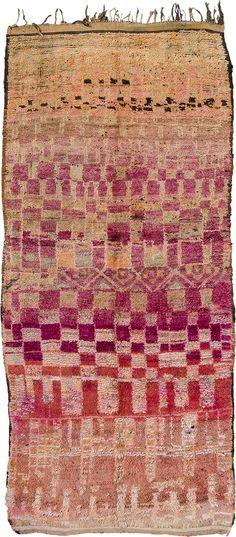 "item / RH11 tribe / Rehamna region / Plains, Morocco circa / 1940's-1950's dimensions / 11'4"" x 5'4"" / 3.45m x 1.62m"