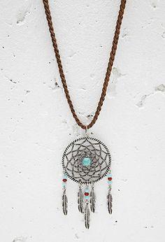 Dreamcatcher Pendant Necklace | Forever 21 - 1000173162