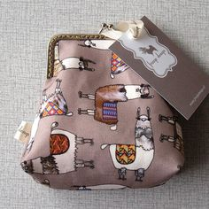 Clutch with llama's by franjedesign