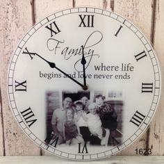Browse a unique range of personalised clocks for the home, Write from the heart specialises in personalized photo clocks, visit our website to view our large range of personalised gifts suitable for the whole family Personalized Clocks, Photo Clock, New Home Gifts, Street Signs, New Homes, Clip Art, Mugs, Life, Facebook