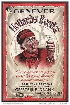 Oud Nederlandse reclameposters Hollands Boerke jenever