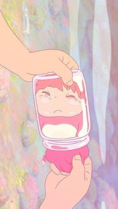 Cute Anime Wallpaper, Cute Cartoon Wallpapers, Animes Wallpapers, Phone Wallpapers, Art Studio Ghibli, Studio Ghibli Movies, Totoro, Anime Kunst, Anime Art