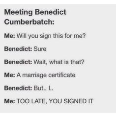 meeting benedict cumberbatch <3