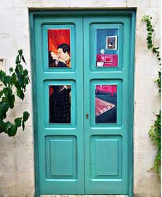 #door #kiss #love #home #blue #art