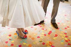 Un beau jour: Charlotte & Ben Sprinkle Party, Rainbow Wedding, Melissa Shoes, Wedding Inspiration, Wedding Ideas, Wedding Colors, Marie, Our Wedding, Whimsical