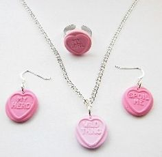Fimo Pink Love Heart Jewellery Set  http://www.foodjewellerydirect.co.uk/ourshop/prod_2476093-Love-Heart-Gift-Set.html
