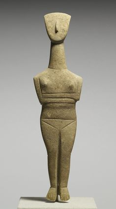 Goulandris Master - Cycladic Female Figurine - Walters 23253 - Sculpture - Wikipedia, the free encyclopedia Ancient Egyptian Art, Ancient Aliens, Ancient Greece, Ancient Goddesses, Art Premier, Early Middle Ages, Sacred Feminine, Greek Art, Ancient Artifacts