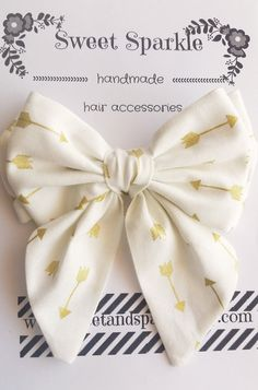 Fabric Bow by SweetandSparkle on Etsy