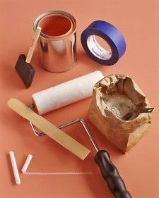 Make your own chalkboard paint in any color using this simple recipe from Martha Stewart #kids #home #diy