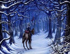 silent knight Dante lone knight forest winter by whiteworksart