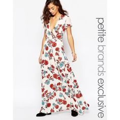 056f997f1d2c3 Glamorous Petite Bloom Print Maxi Dress (80 AUD) ❤ liked on Polyvore  featuring dresses