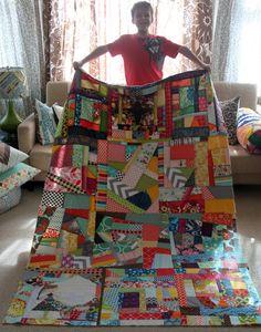 Nothing but Scraps Quilt -- improv patchwork