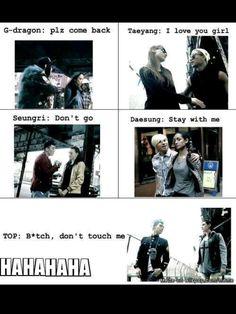 BIGBANG ♡ G-Dragon ,Daesung ,TOP ,Seungri , and Taeyang LikeaBOSS T.O. he loves chair more than opposite sex afterall! Daesung, Vip Bigbang, Big Bang Memes, Big Bang Kpop, Bang Bang, 2ne1, Bts E Got7, Gd & Top, The Bigbang Theory