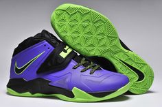 Nike Zoom Soldier Vii Lebron Men Size Shoes Court Purple Blueprint Flash Lime