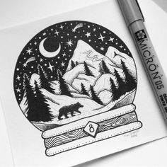 • D E C E M B E R • Eighth day of my snow globe project.  I'm going to sell the originals this time, so if you're interested leave me a DM ✉️ First come, first served  8 - 'The Bear'