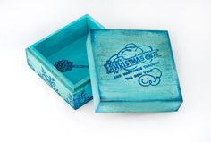 Vintage Christmas box3 1/2 x 3 1/2 x 2   9 x 9 by MyHouseOfDreams, $19.00
