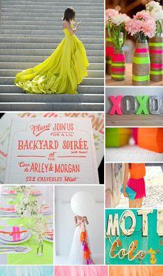 Neon Wedding Inspiration -- www.thesimplifiers.com