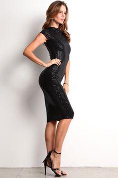 Disco - All Over Sequin Shine Midi Dress