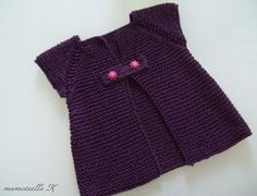 How to tutorial knitting and crochet baby pattern free Knitting For Kids, Baby Knitting Patterns, Crochet For Kids, Crochet Baby, Knit Crochet, Kids Vest, Pull Bebe, Cool Kids Clothes, Baby Cardigan
