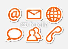 communication and social media sticker