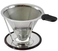 Pour Over Coffee Dripper in Stainless Steel  2 Cup Coffee Brewer -- For more information, visit image link. (This is an affiliate link)