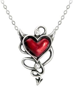 """Devil Heart"" Pendant by Alchemy of England Love this. So unique."