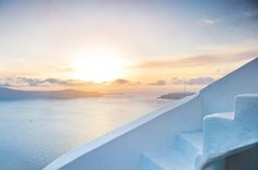 Luxury Suites Santorini combines a world of beauty and tradition! Imerovigli Santorini, Mykonos, Beautiful Sunset, Luxury Living, Airplane View, Paths, Greece, Luxury Suites, Fire
