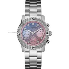 Shop Women's Guess Watches on Lyst. Track over 1998 Guess Watches for stock and sale updates. Elegant Watches, Beautiful Watches, Sport Watches, Cool Watches, Guess Watches, Women's Watches, Silver Watches, Cheap Watches, Watches Online