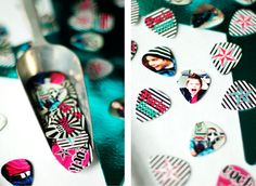 custom guitar picks with photos would be perfect for a music/rockstar bar mitzvah theme!