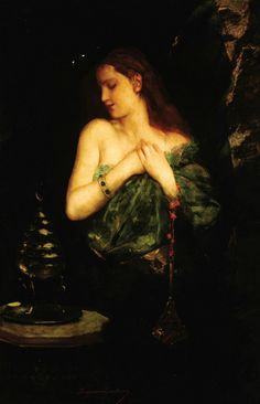 Odalisque. Oil on Canvas. 125.7 x 82.6 cm.  Art by Jean Joseph Benjamin Constant.(1845-1902).