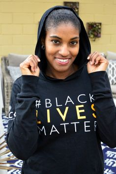 GCF Black Lives Matter Long Sleeve Hooded T-Shirt Unisex