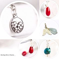 Small sterling silver charms, perfect for a bracelet or as a nice pendant!