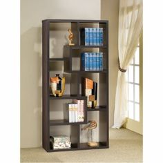 Coaster Fine Furniture 800264 Contemporary Cube Bookcase These Wall Units Can Be Used To Dress Up Any With The Look Of Interlocking Shelves