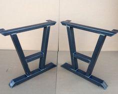 Diamond Dining Table Legs Industrial Legs by MetalAndWoodDesign